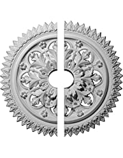 """Ekena Millwork CM21YO2-03500 21 OD ID x 2 1/2"""" P York Ceiling Medallion, Two Piece (Fits Canopies up to 3 5/8""""), Factory Primed"""