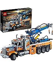 LEGO 42128 Technic Robuuste Sleepwagen Met Kraan En Bouwstenen, Bouwtechniek Voor Kinderen, Speelgoed Vrachtwagen, Cadeau Idee