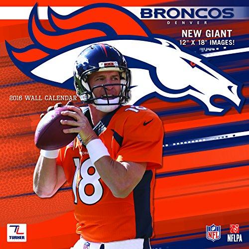 "Turner Denver Broncos 2016 Team Wall Calendar, September 2015 - December 2016, 12 x 12"" (8011908)"