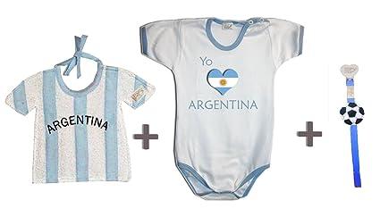 Zigozago - Juego Mundial Argentina compuesto de babero + Body + para ...