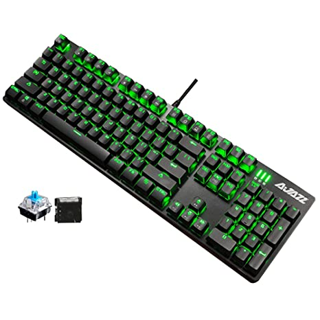 UrChoiceLtd Juego de ratón teclado gaming, Ajazz Armor Warrior 104 teclas LED luz de fondo