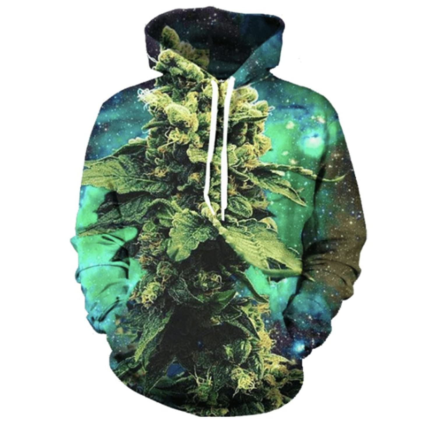 Electric Crown Weed Nugget Galaxy Hoodie Well-wreapped