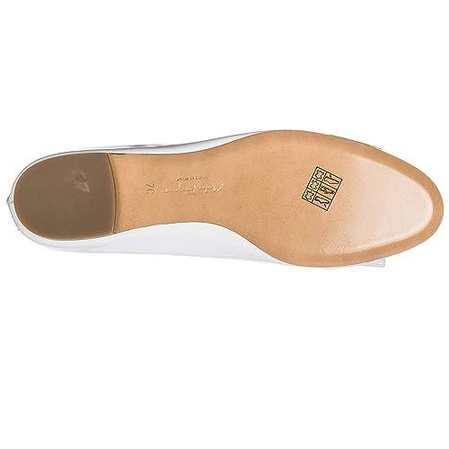 6a6e84978cc9 Salvatore Ferragamo Women s Leather Ballet Flats Ballerinas Varina White UK  Size 2.5 0685249