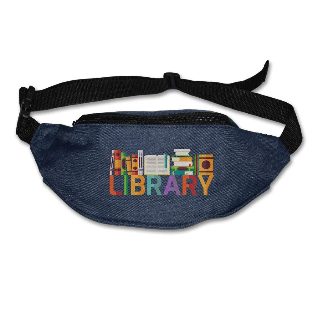 Waist Purse Colorful Art Library Unisex Outdoor Sports Pouch Fitness Runners Waist Bags