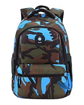 FNTSIC Cool Camouflage School Bags Children Backpacks Large Capacity  Lightweight Shoulder Bags for Teenage Boys and ebdf21a0e1