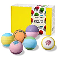 Lagunamoon Upgrade Bath Bombs Gift Set, 6 XXL Natural Fizzy Handmade with Organic...