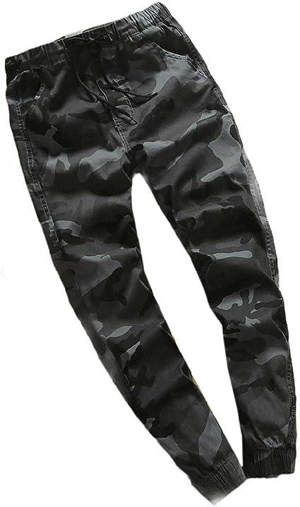VITryst Men's Harem Pants Casual Leisure Camo Tapered Combat Rip-stop Pants