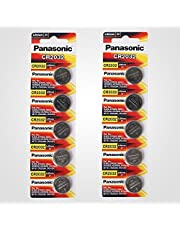 Panasonic CR2032 3V Lithium Battery - 10 batteries (2 Packs x 5pcs)