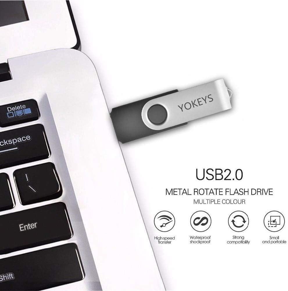 Flash Stick 16GB- 5PACK, Mix Color 5 Pack 16GB USB Flash Drive USB 2.0 Thumb Drives Jump Drive Fold Storage Memory Stick Pen