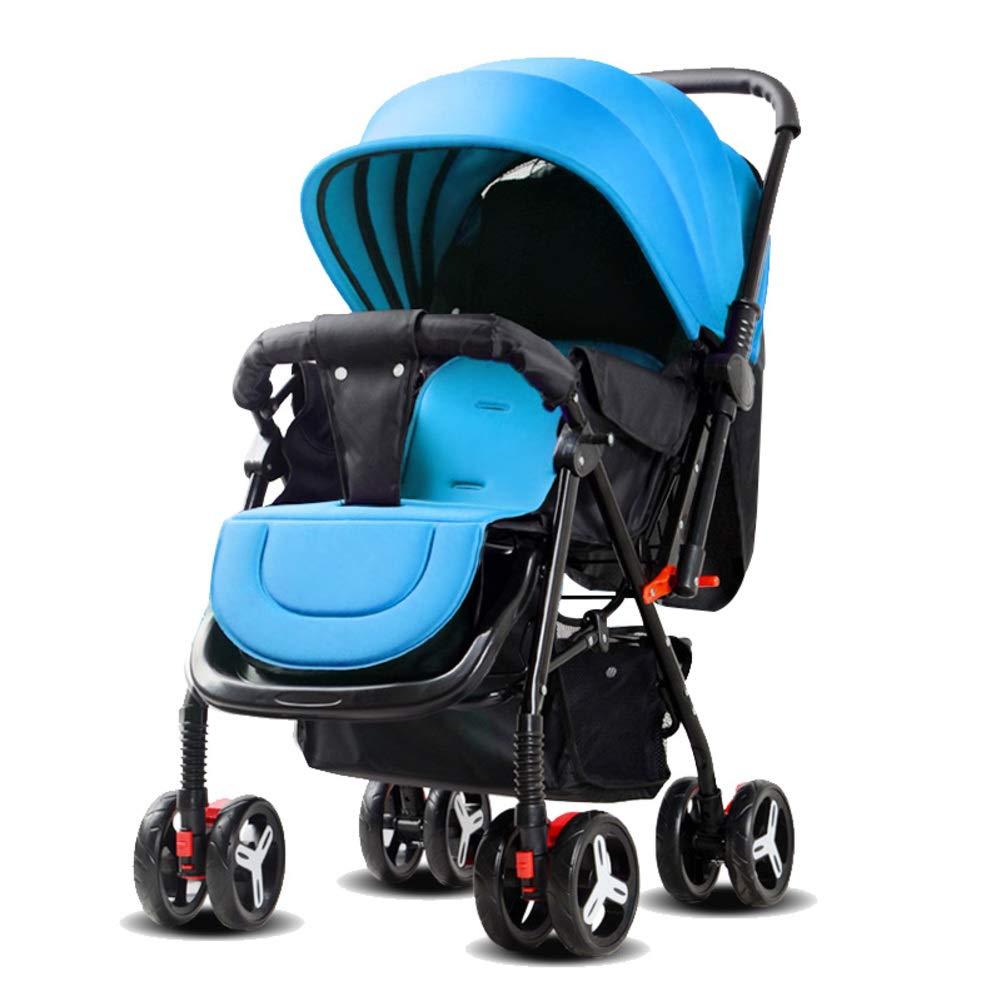 Kompakt Buggy, Geringe gewicht Klappbar Single Kinderwagen Kinderwagen Urlaub Reise Kombikinderwagen Baby wagen-Khaki MSMIL