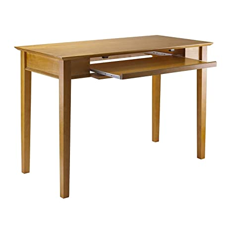Fine Amazon Com Wooden Computer Desk With Slide Out Keyboard Interior Design Ideas Tzicisoteloinfo