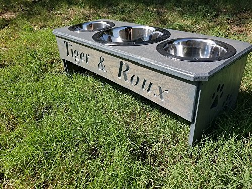 3 Bowl dog bowl stand ()