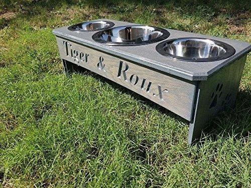 3 Bowl dog bowl stand by BWW DESIGNS
