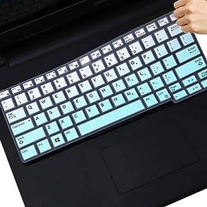 MUBUY Keyboard Cover Fit Dell Latitude 7290 7280 7380 7390 5290, Dell Latitude E5250 E5270 E7250 E7270 E7370 E7389 Soft-Touch Protective Skin- Mint Green