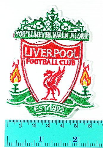 Liverpool Fc League Premier League Football Club logo Jacket T Shirt Patch Sew Iron on Embroidered Symbol Badge Cloth Sign Costume - Football Club Patch