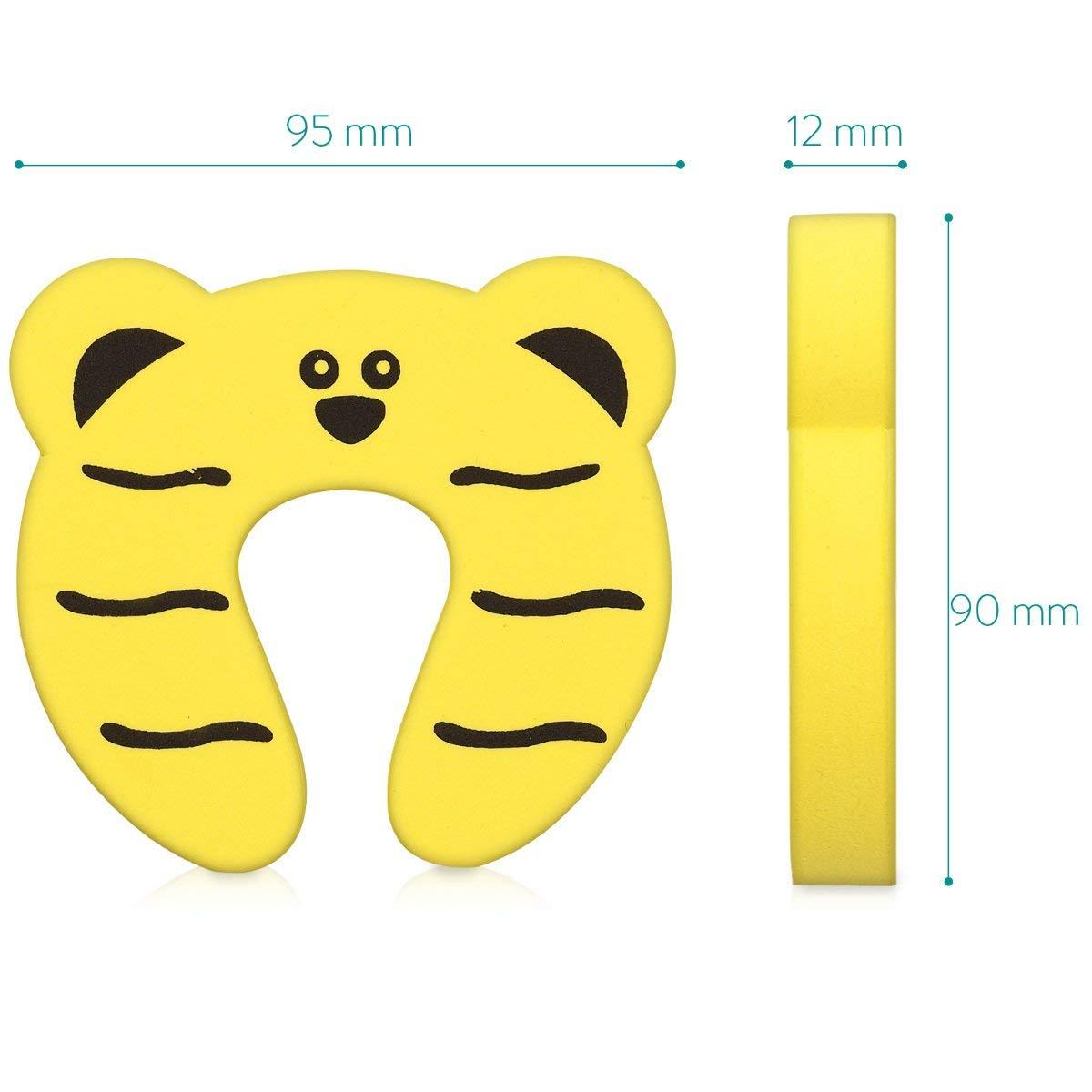 7 St/ück Finger Klemmschutz F/ür T/ür Fenster Schaumstoff Baby Schutz Kindersicherung Kinder Sicherung Fingerklemmschutz Set Tier Motive