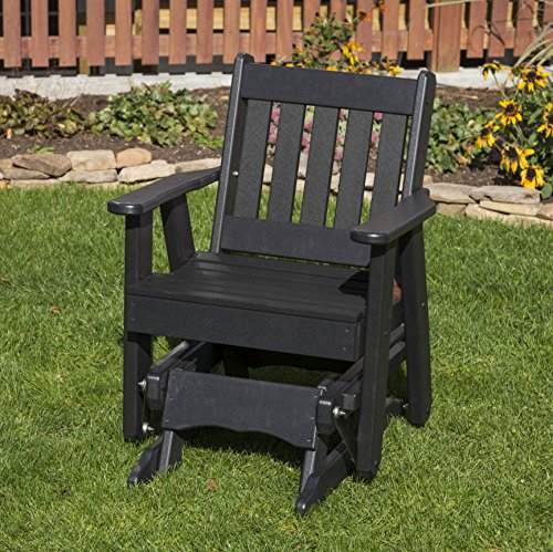 - BLACK-POLY LUMBER MISSION 2 Feet Glider EVERLASTING - MADE IN USA - AMISH CRAFTED
