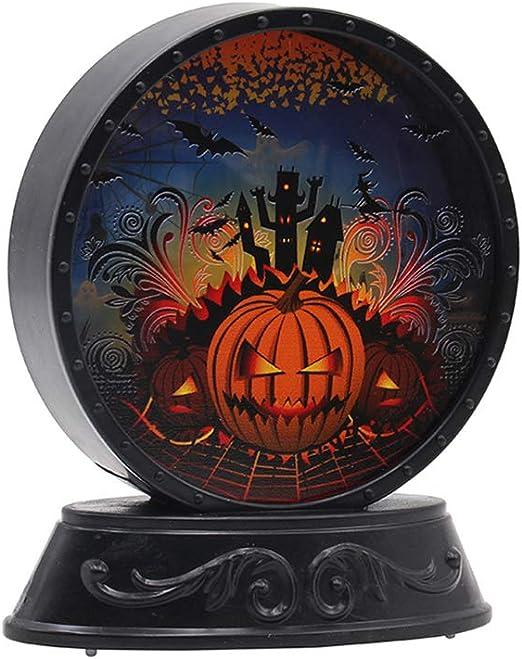 GFEU Adornos de Mesa de Halloween con luz LED para decoración de ...
