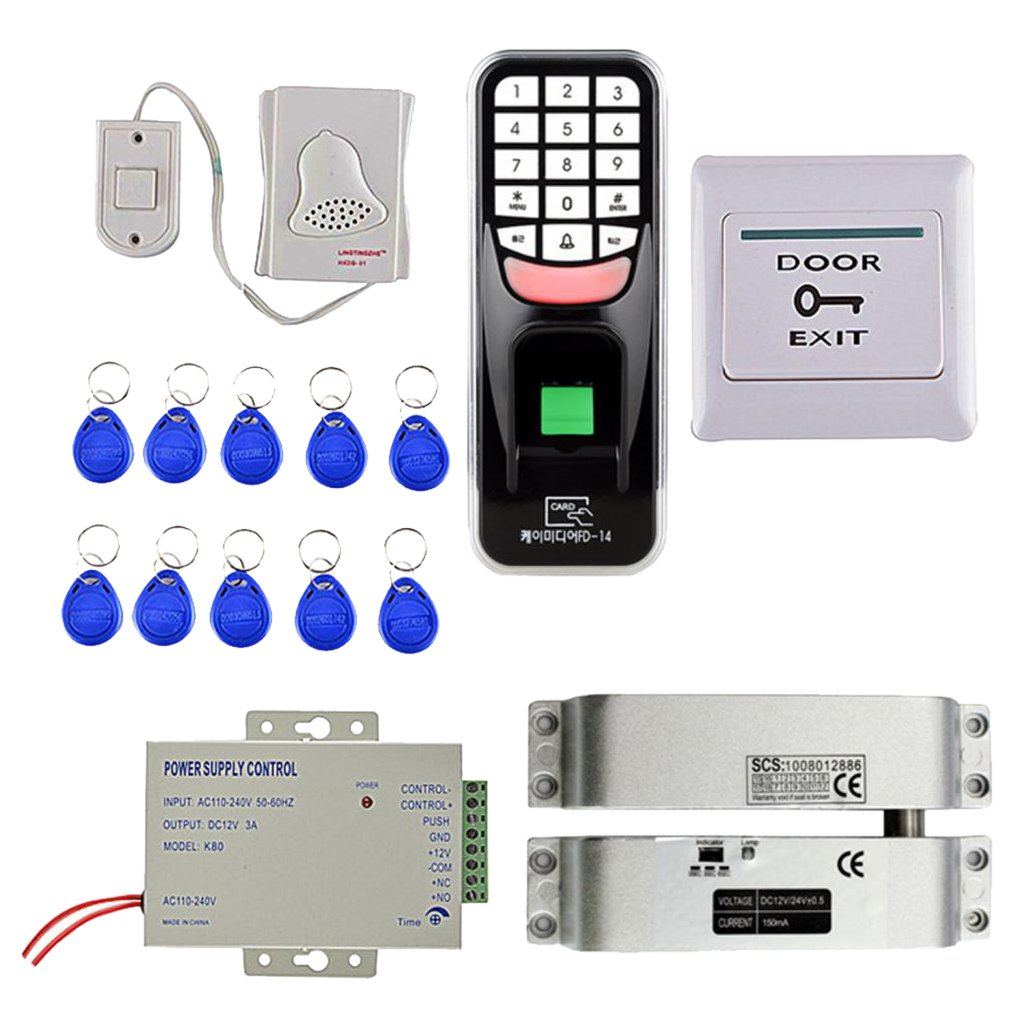 Baoblaze 高品質 DC  12V 電信ロック RFIDカード 指紋アクセス 制御システム B07D73THZV