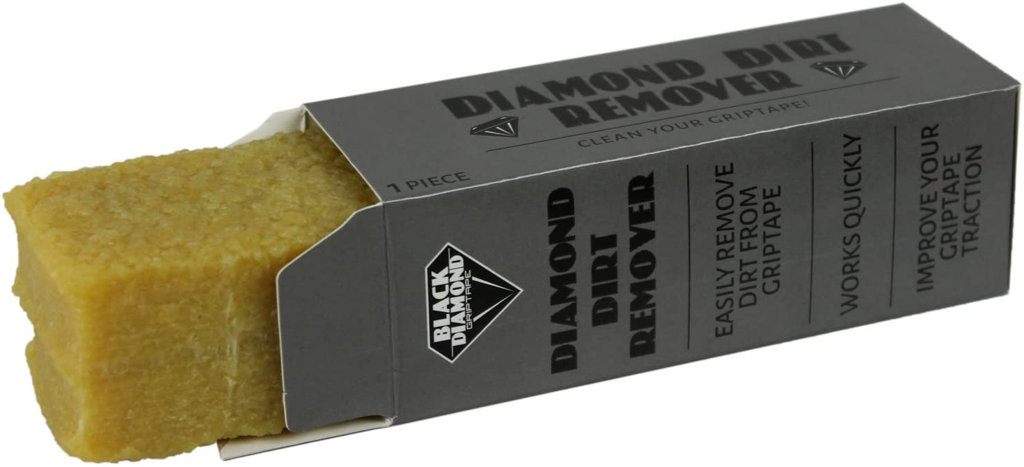 Black Diamond BD-GRIP-CLEANER Skateboard Griptape Cleaner - Diamond Dirt Remover Gummy Cube - Erase Grip Gunk / UK