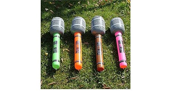 Qwhing - Juego de 4 piezas de micrófono hinchable de PVC ...