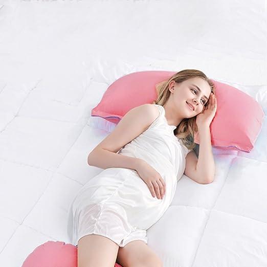 Ovonni -- Almohada Para Las Mujeres Embarazadas, U Forma, Ergonómica, Protectora para la espalda y la cintura, Multi-funcional, Fácil de lavar, ...