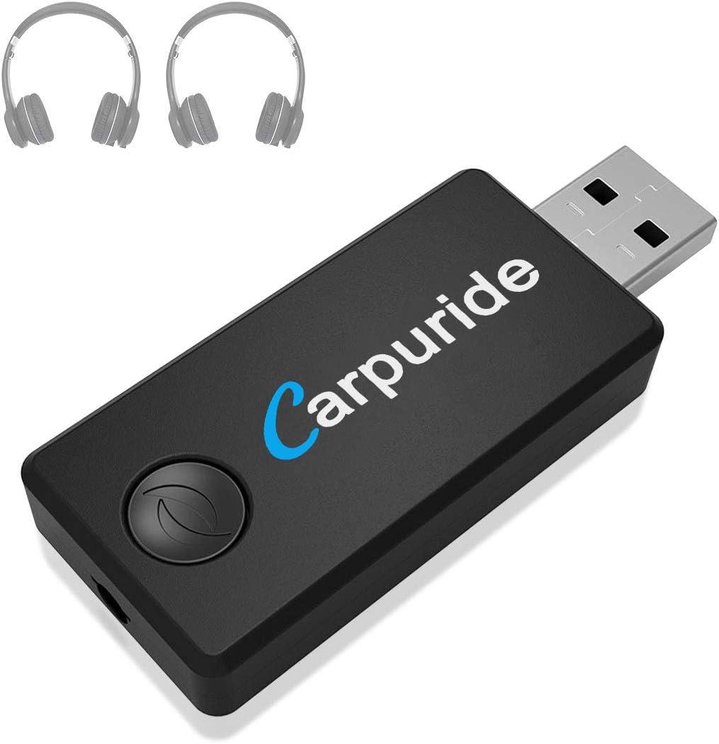 LuTuo Transmisor Bluetooth para TV, Conexión Dual Adaptador Inalámbrico de Audio para Auriculares, Baja Latencia, Alta Fidelidad Estére, soporta 3.5mm, RCA, USB Audio de PC (TX-9)