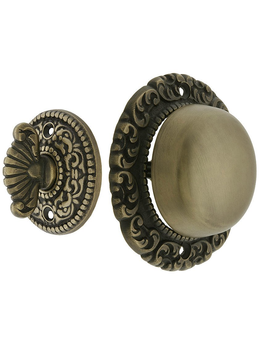 House of Antique Hardware R-06SE-0900017 Small Scroll Design Twist Door Bell in Antique Brass
