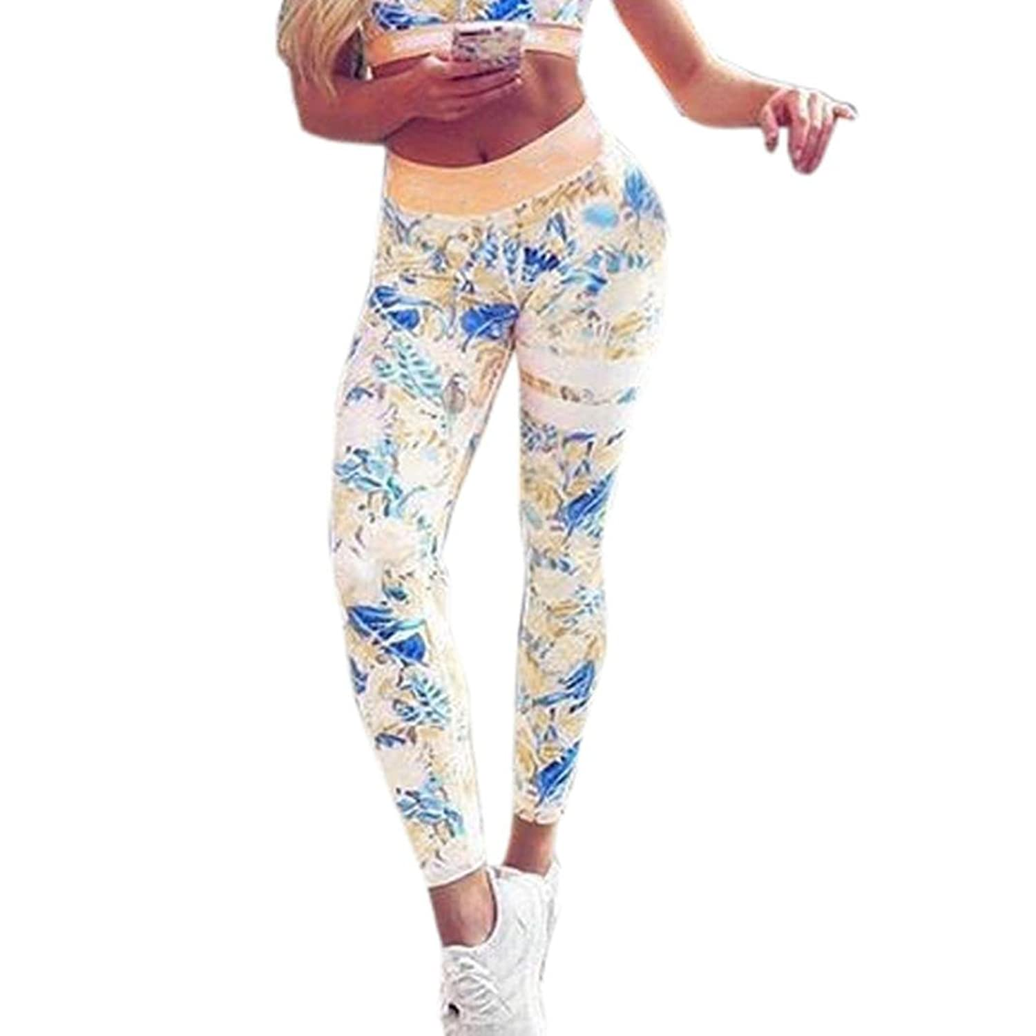 2a263397cfba5 Gillberry Women Print Leggings Sports Gym Yoga Workout Fitness Athletic  Pants  5WarK0505018  -  8.99