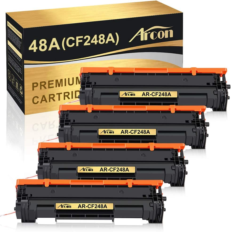 Arcon Compatible Toner Cartridge Replacement for HP 48A CF248A use for HP LaserJet Pro M15w, LaserJet Pro M29w, MFP M28w, M28a, M29a M30w M31w M15a M16a M16w 48A CF248A HP Printer Toner (Black,4 Pack)
