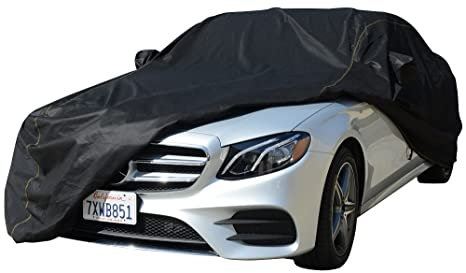 VETOMILE Car Cover XL 5 Layers Up to 229 Inches Waterproof Windproof Dust Proof Breathable Outdoor Indoor UV Protection Full Car Covers for Sedan