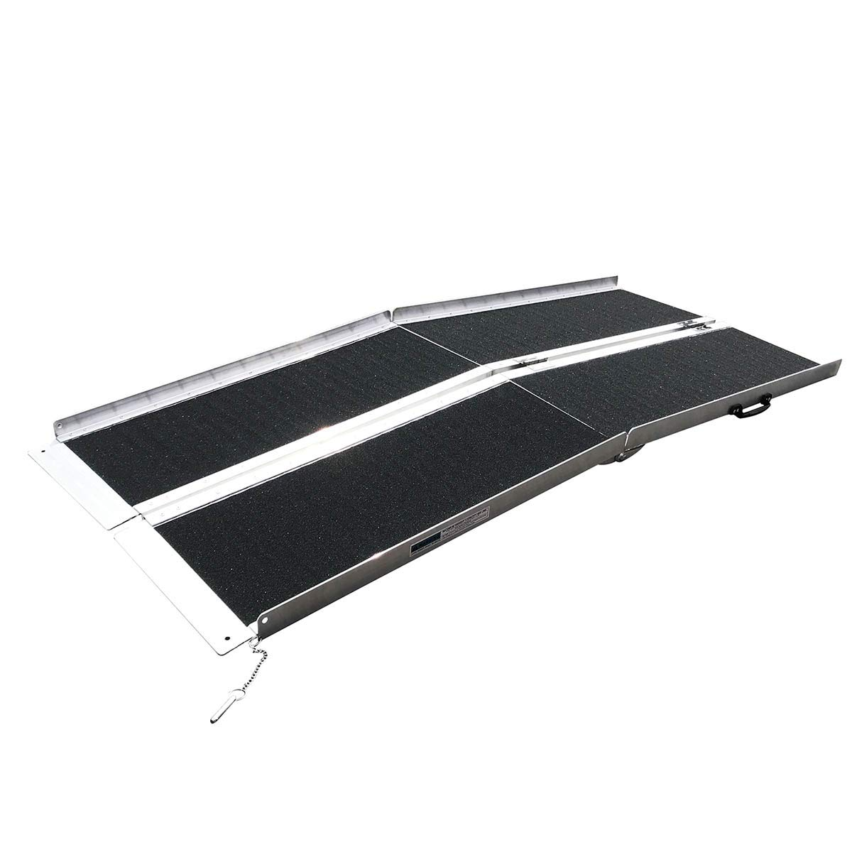 Clevr 6' (72'' X 31'') Non-Skid Aluminum Wheelchair Loading Traction Ramp, Lightweight Folding Portable, Single Fold Wheelchair Scooter Ramp, Extra Wide 31'', Holds up to 600 lbs by Clevr (Image #5)
