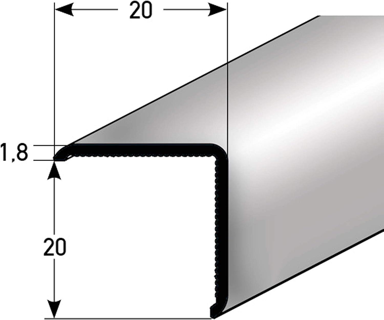 Bodenbeläge & Fliesen 20 x 20 mm Eckschutzprofil Edelstahl