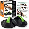 Push Up Stands -- Rotating, Non Slip Pushup Bar Design - Wide Grips for Max Comfort - Smooth Rotation Eliminates Wrist Strain - Perfect for Men & Women, Fitness Workouts, p90x, CrossFit by SmarterLife Products LLC