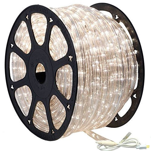 AQL 150' Outdoor Rated LED Rope Light Kit - 120V - UL Listed (Moonlight, Standard Kit)