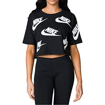 Nike W NSW Top SS Futura Toss Camiseta, Mujer, (Negro/Blanco), M: Amazon.es: Deportes y aire libre