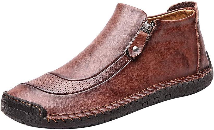 Zapatos de Hombre, Logobeing Cuero Vestir Zapatos de Gran Tamaño ...