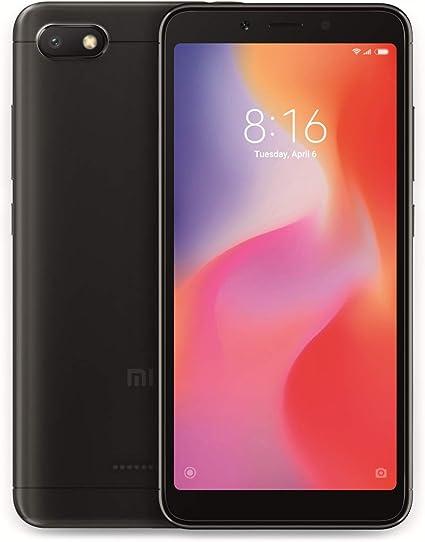 Xiaomi Redmi 6A Smartphone Dual SIM, 32GB, 2GB RAM, Negro [versión ...