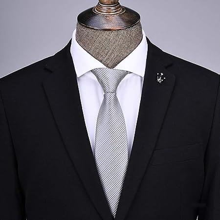 YiCan Corbata Negra Corbata Formal For Hombres/Overol Camisa Profesional Corbata Roja A Rayas For Estudiantes / 145 * 8 Cm: Amazon.es: Hogar
