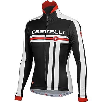 Castelli Free Jacket - Chaqueta para ciclismo, color azul y blanco multicolor negro/blanco