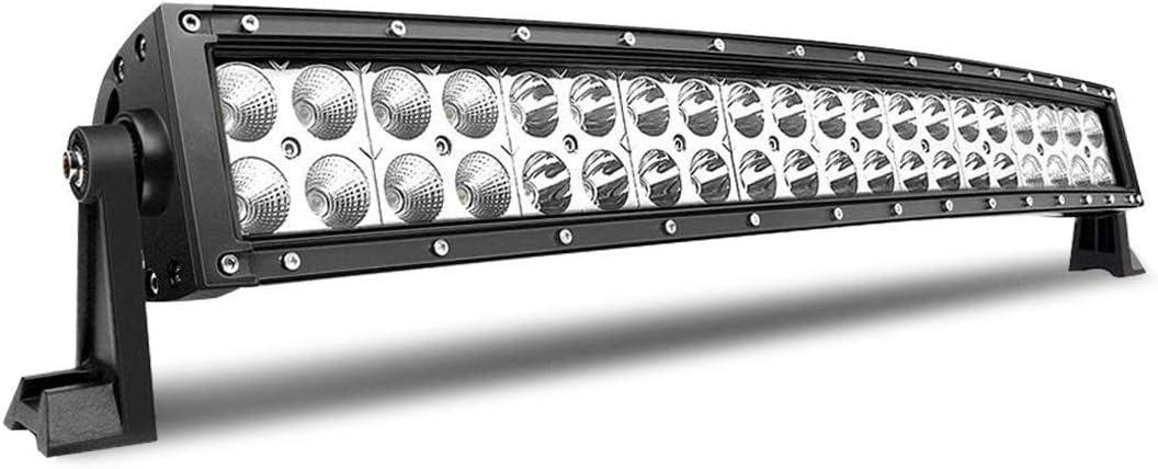 Barra de luz led curvada de 22 pulgadas 120W combo de inundaci/ón puntual dual fila luces de trabajo de conducci/ón led fuera de la carretera para camioneta ATV Barco