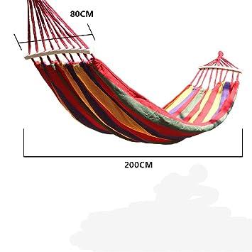 MONEYY Recreación al Aire Libre camping gruesos palos de madera madera hamacas anti-volcarse swing