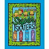 Fabric Teenage Mutant Ninja Turtles Super Skater Panel, Blue