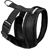 Gooby Choke Free X Frame Soft Harness with Micro Suede Trimming for Small Dogs, Small, Black