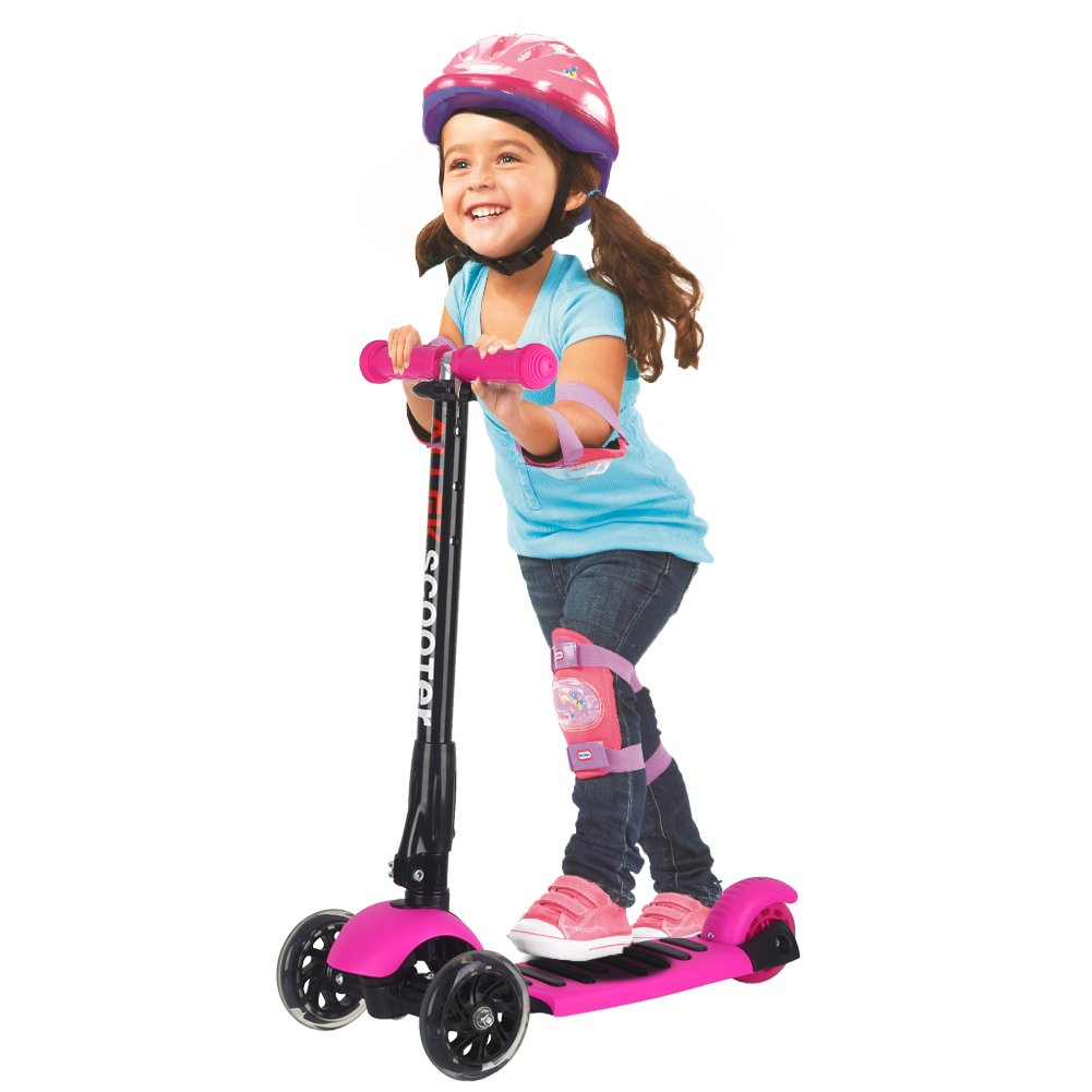 Allek Scooters for Kids, Wide Deck 3 Wheels Scooter for 3 Years and Up with T-Bar Handle 150lb Weight Limit Kick Scooter by Allek (Image #2)