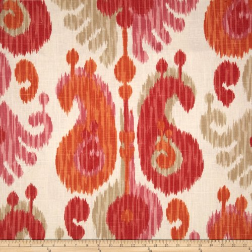 Braemore Journey Ikat Linen Blend Fruity, Fabric by the Yard