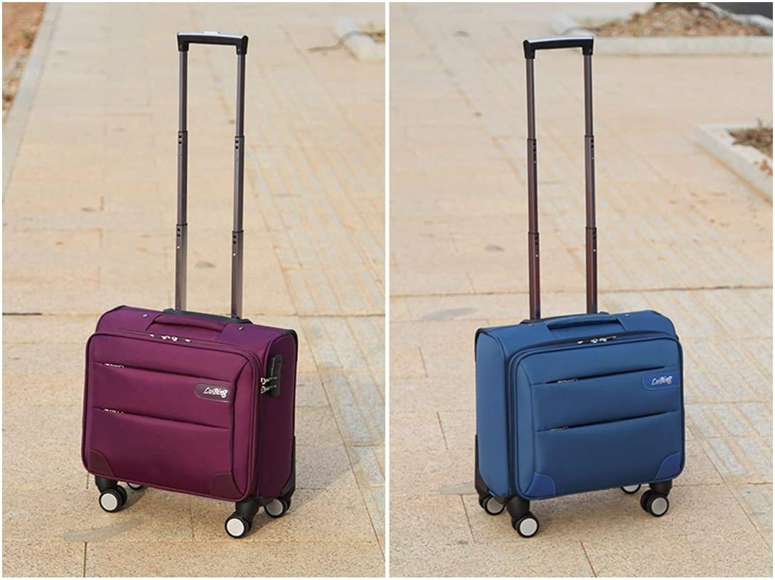 Trolley Case 20 Black Carrying Case Best Gift Color : Black Bahaowenjuguan Soft Rotating Luggage Travel Organizer