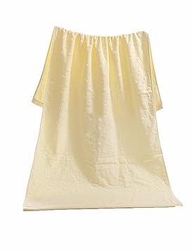 Toalla de algodón Simple Absorbente Toallas Suaves Grandes Toallas de algodón Terry de algodón Toallas 70 * 140 cm (3 Colores Opcional) (Color : 1): ...