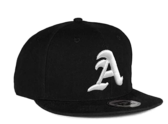 4sold® Snapback Hat with Raised 3D Embroidery Letter Baseball Cap Hip-Hop Cap Hat Headwear (One Size, A) at Amazon Mens Clothing store: