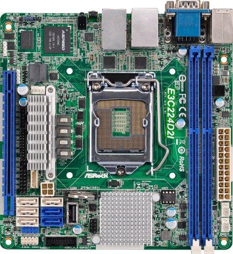 Asrockrack Motherboard, Mini ITX DDR3 1066 LGA 1150 E3C224D2I